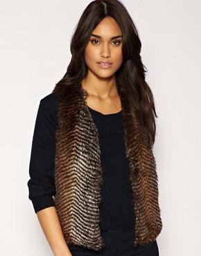 Image 1 ofMango Faux Fur Waistcoat