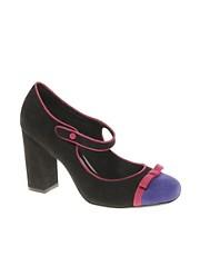 ASOS SONYA Bow Toe Cap Mary Jane Shoes
