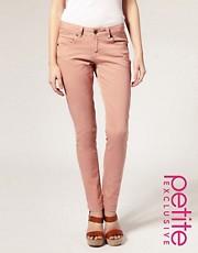 ASOS PETITE Exclusive Peach Skinny Jeans