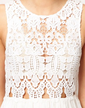 Image 3 ofAlice McCall Anais Dress In Silk Cotton With Cutwork Bodice