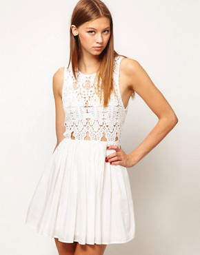 Image 1 of Alice McCall Anais Dress In Silk Cotton With Cutwork Bodice
