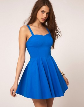 Image 2 of ASOS PETITE Strappy Skater Dress