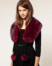 ASOS Fantasy Fur Pom Pom Collar
