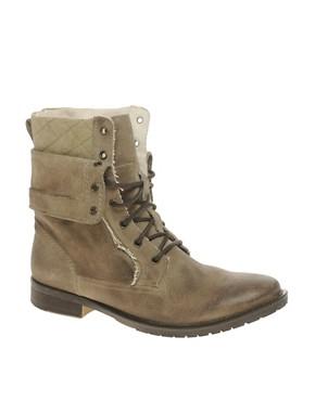 Image 1 ofASOS Foldover Military Boots