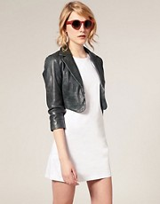 ASOS Leather Cropped Blazer