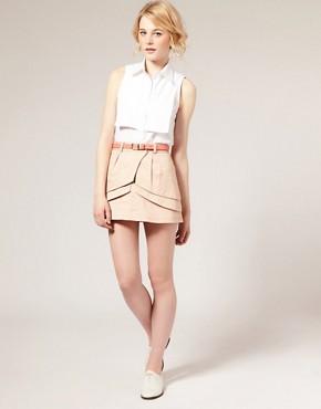 Image 1 ofASOS Layered Fold Mini Skirt