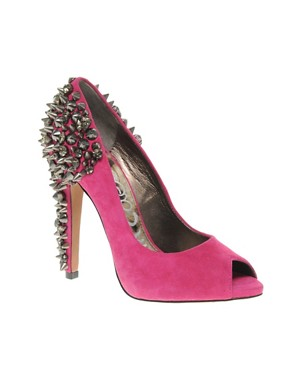 Image 1 of Sam Edelman Lorissa Suede Shoes With Spike And Diamante Detailing