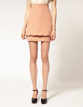 Image 4 of ASOS Scalloped Layered Skirt
