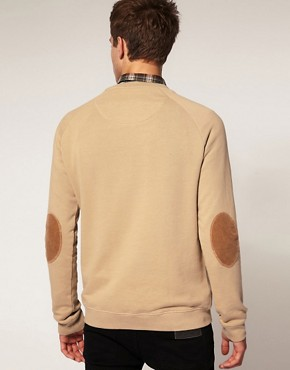 Image 2 ofRiver Island Elbow Patch Sweat Shirt