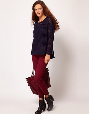 Image 1 of River Island Molly Jegging In Berry Denim