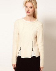 BACK by Ann-Sofie Back Cable Knit Jumper with Zip