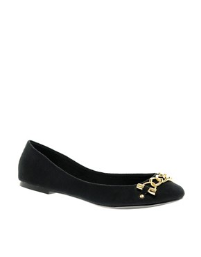 Image 1 of ASOS LOLLY Chain Detail Ballerinas