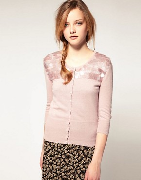 Image 1 of A|wear Angora Disc Sequin Cardigan