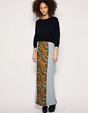 ASOS AFRICA Printed Maxi Skirt