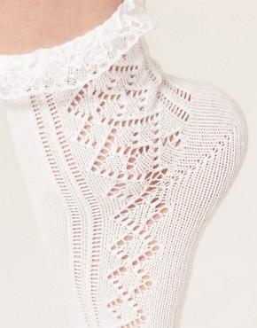 Image 2 ofASOS Pelerine Lace Frill Ankle Socks
