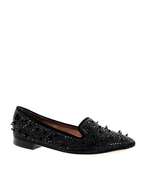 Image 1 of Sam Edelman Adena Stud Detail Satin Slippers