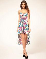 Paprika Floral Zip Front Bustier Dress
