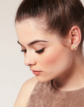 Image 1 of ASOS Double Leaf Ear Cuff