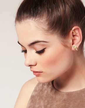 Image 1 ofASOS Double Leaf Ear Cuff