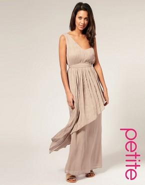 Image 1 ofASOS PETITE Techno Boheme Pleated Maxi Dress