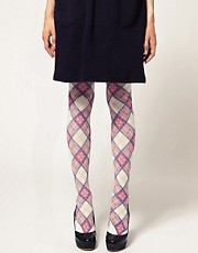 Burlington Tartan Print Tights