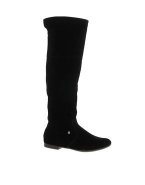 Image 1 ofRiver Island Double Zip Back Knee Boots