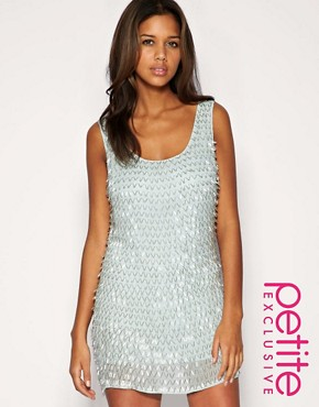 Image 1 ofASOS PETITE Exclusive Premium Bugle Beaded Backless Dress