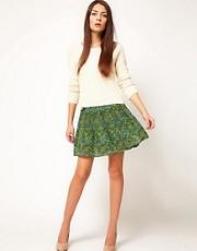 Antipodium Powerscroft Skirt in Printed Silk