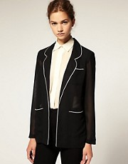 ASOS Piped Soft Blazer