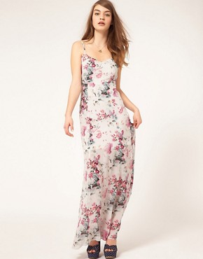 ASOS Strappy Maxi Dress On Grunge Print - £36.00