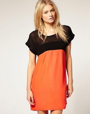 Image 1 ofMotel Laureen Sheer Panel Dress