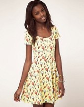 Vero Moda Dress in Ice Cream Print Jersey Skater