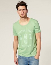 ASOS - T-shirt à encolure stretch imprimé université
