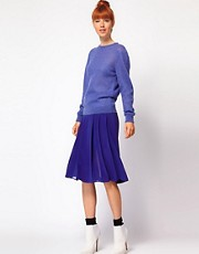 Richard Nicoll Pleated Skirt in Crepe de Chine