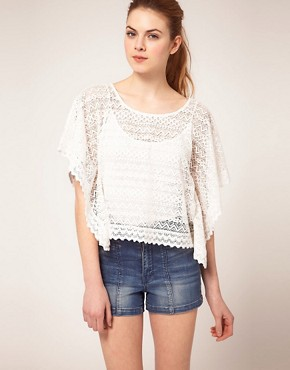 Image 1 of Vila Lace Oversized Top