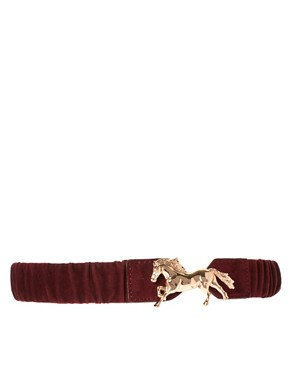 Image 1 of ASOS Elastic Horse Buckle Waist Belt