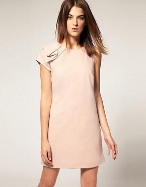 Image 1 ofWarehouse Shoulder Detail Shift Dress