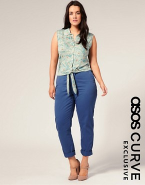 Image 1 of ASOS CURVE Exclusive Summer Chinos