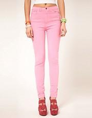 American Apparel Coloured High Waist Jeans