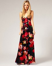 Ted Baker Ruffle Maxi Dress In Rose Print