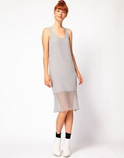 Richard Nicoll Midi Dress with Georgette Panel