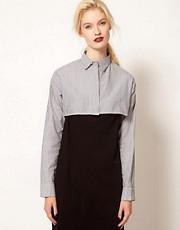 BACK by Ann-Sofie Back Boning Crop Shirt