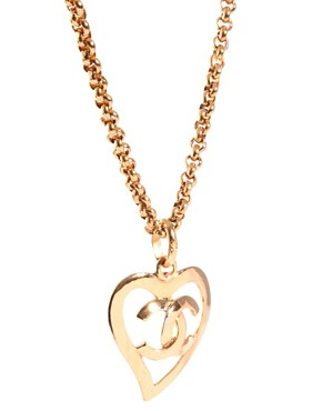 Image 4 of Susan Caplan Vintage Chanel '80s Heart Necklace
