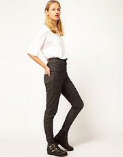 White Tent Peplum Detail Sporty Trousers