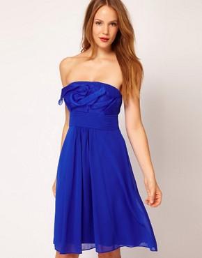Image 1 ofCoast Pleat Bandeau Dress