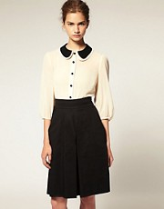 ASOS Double Peterpan Collar Blouse