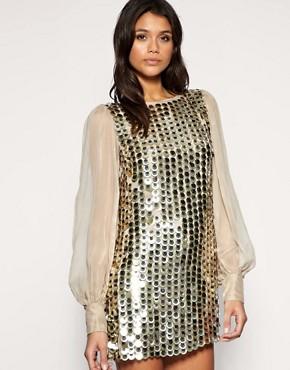 Image 1 ofASOS Chiffon Sleeve Embellished Tunic