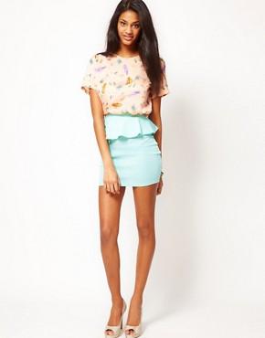 Image 1 of Oh My Love Peplum Mini Skirt