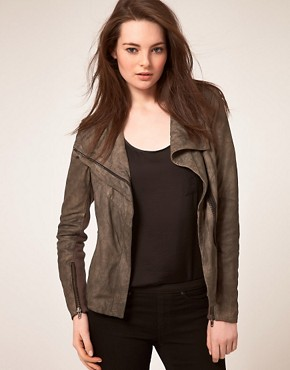 Image 1 of Muubaa Leather Hazel Cowl Jacket