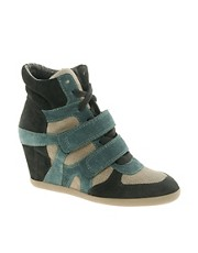 Ash Bea Bis Multicoloured Wedge Trainers